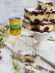 Angel's food: Prajitura cuburi cu branza, ananas si nuca de cocos Homemade Cakes, Coco, Tiramisu, Deserts, Ethnic Recipes, Postres, Tiramisu Cake, Dessert, Homemade Desserts