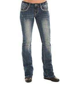 Cowgirl Tuff Western Denim Jeans Womens Barbed Wire 32 Short JSUBWE ** See this great product.