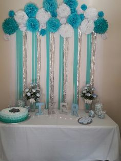 Baby Shower Backdrop For A Gender Reveal Blue Pink . DIY Backdrop Ideas For A Baby Shower. Decoracion Baby Shower Niña, Idee Baby Shower, Fiesta Baby Shower, Baby Shower Backdrop, Baby Shower Brunch, Baby Shower Cupcakes, Baby Shower Balloons, Baby Shower Cards, Baby Shower Favors