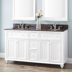 "60"" Cottage Retreat Double Vanity for Undermount Sink - White"