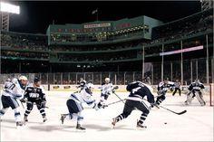 Hockey at Fenway Park . I wanted to go so badly! Blue Fruits, Boston Sports, Fenway Park, Boston Bruins, Nhl, New England, Hockey, To Go, Field Hockey