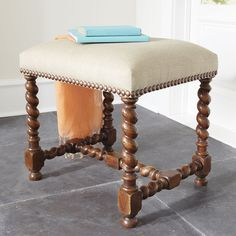 W5782 European Barley Twist Stool Stools & Ottomans, I could put this ANY where!