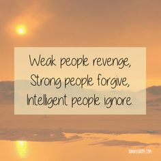Weak people revenge.
