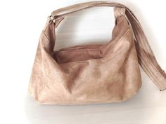 beige vegan satchel bag beige hobo bag cross body by LIGONbyRuthi