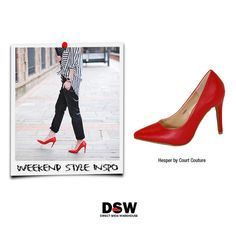 Weekend Style Inspo: Fun and fearless, make a grand entrance and lasting impression with our red Hesper heels by Court Couture. http://www.dswshoe.com.au/Catalogue?styleID=12492&Colour=Red+Pu