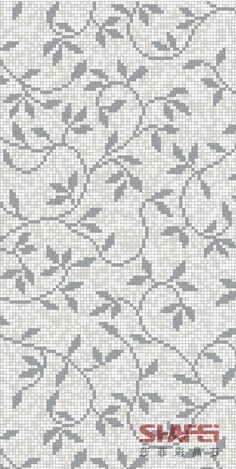 Art Crystal Glass Mosaic Mural PT-001(Size: 1200x2400mm) - #1200x2400mm #crystal #glass #mosaic #mural - #Genel Crochet Cross, Crochet Chart, Crochet Home, Knitting Charts, Knitting Stitches, Knitting Patterns, Tapestry Crochet Patterns, Embroidery Patterns, Cross Stitch Designs