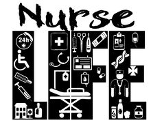 Nurse Life Digital File In *SVG *PNG *EPS for Cut and Print - Cricut, Sure Cuts A Lot, Silhouette