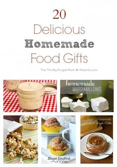 20 Delicious Homemade Food Gifts- inexpensive and easy to throw together last minute!