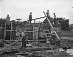 [Boys Working on a House] :: Textiles, Teachers, and Troops - Greensboro 1880-1945