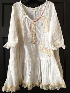 Sarzana Mini cotton babydoll lace dress top by TheLookFactory