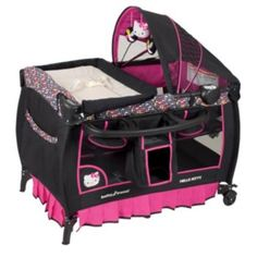Hello Kitty Pin Wheel Deluxe Nursery Center Playard by Baby Trend