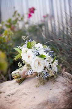 rustic sage, ivory and purple wedding in Santa Barbara, CA, photo by Jessica Lewis Photography via JunebugWeddings.com