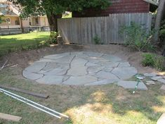 How to Install a Flagstone Patio with Irregular Stones | DIY ...