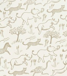 Safari Taupe Wall Paper by Rifle Paper Co.