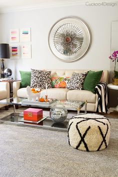 A new gorgeous rug for living room! love the colors and blends of textiles