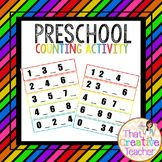 Math Number Counting Activity is a great resource for preschool and kindergarten classrooms.  Created by That Creative Teacher