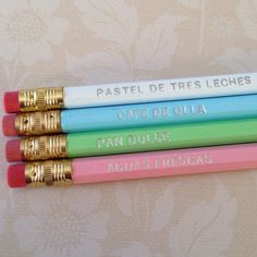 Mexican sweets set of 4 Pencils