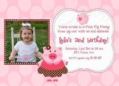 Pig Birthday Invitation  Pig Birthday by SweetBeeDesignShoppe, $15.00