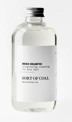 Designer unknown. Love the serif type. Uncommon look for a shampoo bottle. #packaging