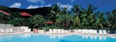 View from the pool at the Carambola Beach Resort and Spa in St. Croix, USVI