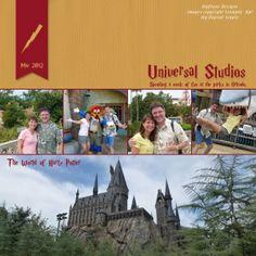 universal studios scrapbooking layouts | Universal Studios | Disney Scrapbooking layouts