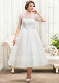 Tea length, Tea length wedding dress and Tea length wedding on ...