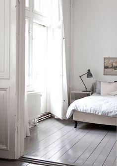Morning Glory Painted Hardwood Floorswhite