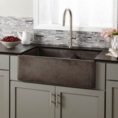 How to Install an Apron Sink in a Stock Cabinet | Kitchen DIY ...