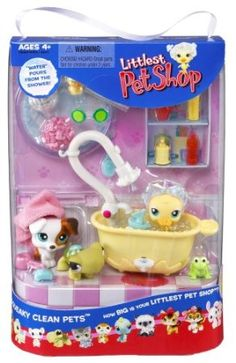 Amazon.com: Littlest Pet Shop Playset Squeaky Clean Pets: Toys & Games