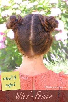 Space Buns how to . Space Buns, Hair, Lotta, Up, Anna, Fashion, Top Knot, Pony Tails, Oktoberfest Hair