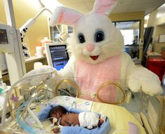 Easter Bunny visits NICU patients in Montgomery