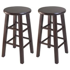 Winsome Set Of 2 Square Leg, Counter Stool, Antique Walnut: Solid wood construction bar stool. Black Bar Stools, 24 Bar Stools, Counter Height Stools, Black Stool, Table Stools, Bar Tables, Home Bar Furniture, Cheap Furniture, Furniture Ideas