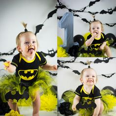 One year Photoshoot batman gril