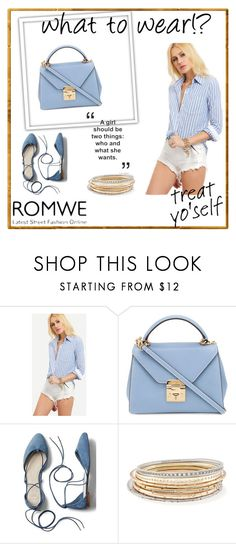"""Blue White Blouse"" by almir-ks ❤ liked on Polyvore featuring Mark Cross, Gap, Kendra Scott and romwe"