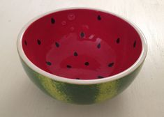 Handpainted Watermelon Bowl