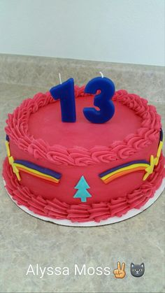 I KNOW THIS IS REALLY LATE, BUT THIS WAS MY BIRTHDAY CAKE FROM MY BIRTHDAY (MAY 1) AND IT WAS THE BEST CAKE IN MY LIFE! I DIDN'T MAKE IT BTW. Cake for @alyssalee0501. Fall Birthday Cakes, Fall Birthday Parties, Monster Falls, Gravity Falls Cosplay, Gravity Falls Journal, Bubble Milk Tea, Fall Cakes, Cute Cakes, Cute Food