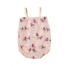 Adorable!  Go Gently Baby Birds Bubble Geranium // PoppysCloset.com