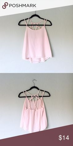 Super Cute Strappy Cream Loose Sleeveless Top Adorable and comfortable. Tops Tank Tops