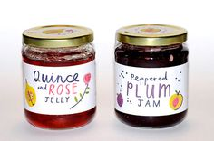 pretty jam label design by charlotte trounce