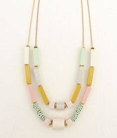 Apres Ski pastel necklace