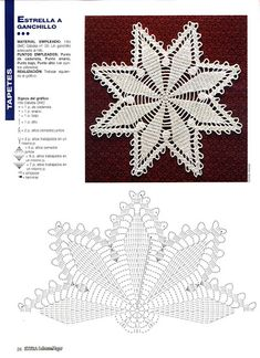 World crochet: Napkin 472 World crochet: Napkin 472 Learn the basics of how to needlecraft (generic Filet Crochet, Mandala Au Crochet, Crochet Doily Diagram, Crochet Stars, Crochet Doily Patterns, Crochet Snowflakes, Crochet Granny, Crochet Designs, Crochet Doilies
