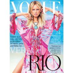 Vogue Brasil Cover November 2011 - MyFDB ❤ liked on Polyvore featuring covers, magazine, models, pink, editorials, karolina kurkova and magazine cover