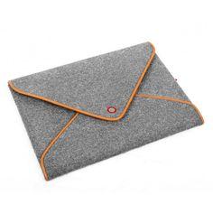 Macbook Case Tablet Sleeve Wool Felt Laptop Case for Macbook Pro Retina Genuine Leather Edge Bag Envelope Style TopHome Design Macbook Pro 13, Macbook Bag, Macbook Sleeve, Felt Case, Felt Material, Pin On, Handbag Organization, Manga, Ipad Mini