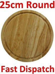 Quality Round Chopping Board -25 cm Amazon.co.uk Kitchen \u0026  sc 1 st  Pinterest & Natural bamboo fruit plates dried wood trays snack candy cake holder ...