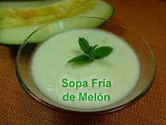 Sopa fría de Melón Cantaloupe, Pudding, Healthy Recipes, Ethnic Recipes, Desserts, Youtube, Inspiration, Cold, Soup Recipes