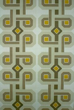 Seventies Geometric Retro Wallpaper