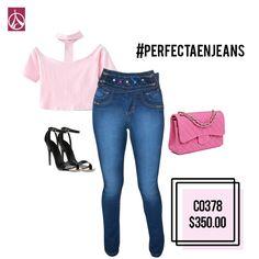Un outfit color rosa cuarzo te hará lucir siempre femenina. www.paris-jeans.com