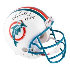 ea58986a5f5 Dan Marino Miami Dolphins Autographed Riddell Pro-Line Authentic Throwback  Helmet with 83 ROY Inscription