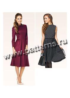 Выкройка Burda (Бурда) 6833 — Платье   Платья