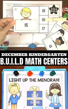 This is an article that shows and explains 15 different December math centers for Kindergarten based on BUILD. BUILD is a rotation and management system that allows the students to word independently during math workshop, while their teacher is teaching her small math groups. The December math centers is full of hands-on math activities like: number sorts, measurement, geometry mathtivities, counting and cardinality, number sense, and beginning word problems. The BUILD math centers are also avai